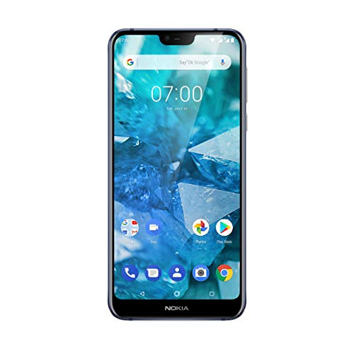 Nokia 7.1 Dual SIM Smartphone (15,38 cm (5,84 Zoll) Full HD Display, 32 GB interner Speicher, 3 GB RAM, Android 8.1) blau - exklusiv bei Amazon