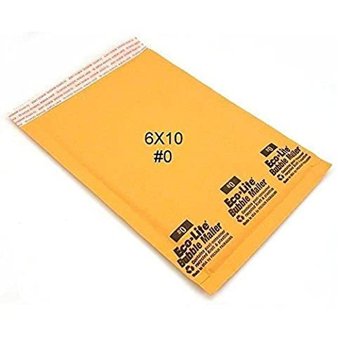 50 6x10 Bubble Mailer Self Sealing Shipping Envelope #0 by Ecolite