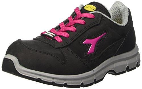 diadora-run-low-s3-zapatos-de-trabajo-unisex-adulto-negro-nero-rosso-fucsia-39-eu