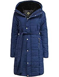 Ladies Puffer Quilted MA1 Long Jacket Womens Bubble Padded Warm Thick Coat
