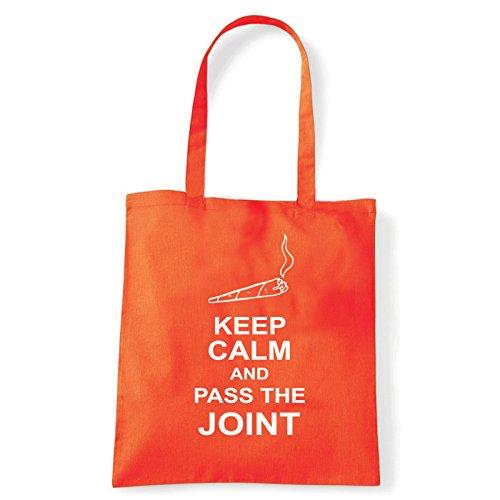 Art T-shirt, Borsa Shoulder pass-the-joint Arancio