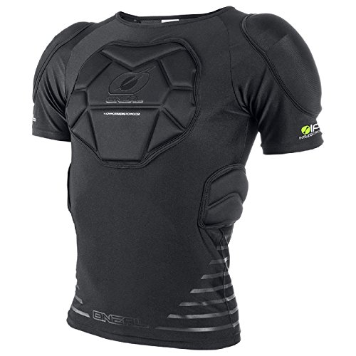 O'Neal STV Kurzarm Protektoren Shirt Enduro MTB DH FR Fahrrad Schutz Bekleidung Trikot, 0280-1, Größe Large (Trikot Fahrrad Freeride)