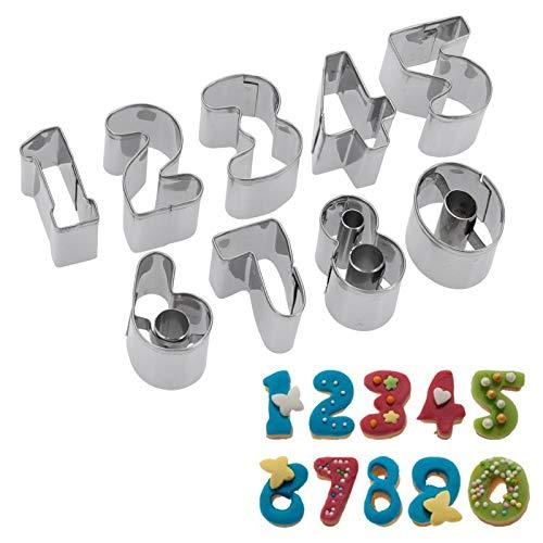Westmark Keks-Ausstechformen-Set, 9-tlg, Zahlen 0-9, Länge: 2,5 cm, Rostfreier Edelstahl, Silber, 35382280