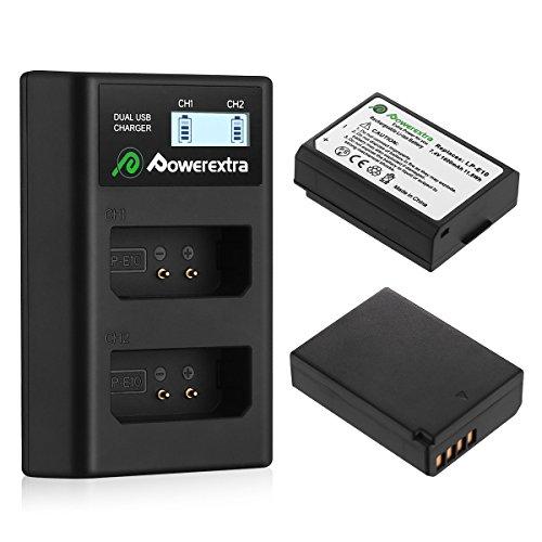 Powerextra Baterías Canon LP-E10 Dual USB Cargador