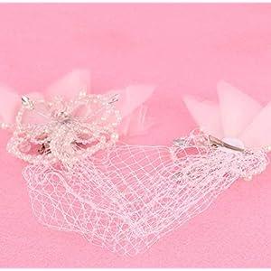 CYY Braut Kopfschmuck Blütenblatt Perle net Garn Haarnadel Braut Brautkleid Zubehör weiße Haare Karte
