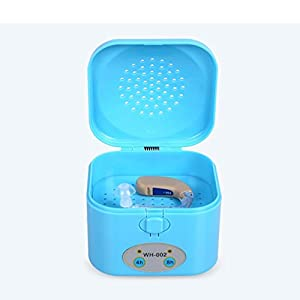 HRRH Hearing Aid Dehumidifier - 4/8 Hour Timer Electronic Dryer Portable Dryer Hearing Aid Drying Box