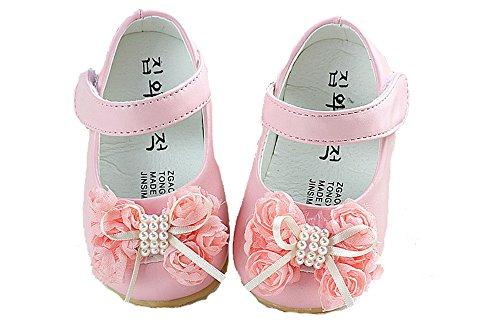 Cinda bébé Flower Girls Chaussures Rose