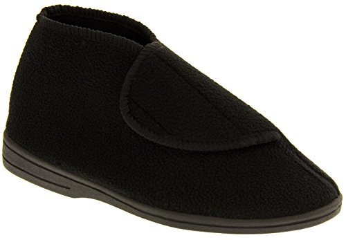 Coolers Herren Orthopädische Stiefel Pantoffeln Schwarz