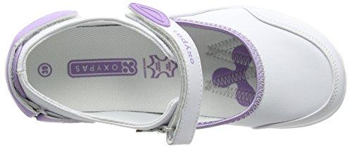 OXYPAS Nelie, Chaussures de Sécurité Femme Blanc (lic)