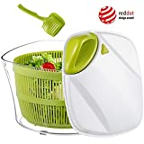 Focovida Salatschleuder 5L mit Deckel und Nudelzange, Design Patent Großer Salattrockner inkl. Salatschüssel zum...