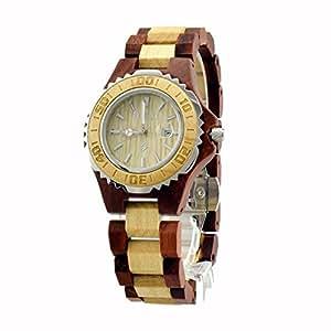 Bewell orologio da polso in legno donna orologio di lusso for Orologio legno amazon