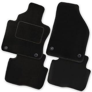 Bär-AfC CI00601 Auto Fußmatten Nadelvlies Schwarz | Rand Kettelung Schwarz | Set 4-teilig | Passgenau für Modell Siehe Details
