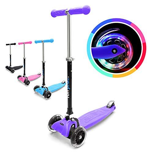 fun pro ONE - der sichere Premium Kinder Roller, LED Räder, faltbar, ab Kleinkind (Kickboard, Tretroller), TÜV geprüft aus Hamburg