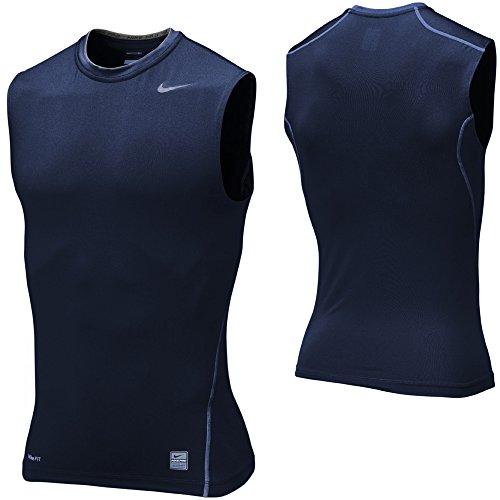 Nike Core Compression Maglietta da uomo senza maniche, Ossidiana, M