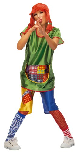 Hilmar Krautwurst K302-002 - Costume Pippi Calzelunghe, maglia e pantaloni, taglia 44