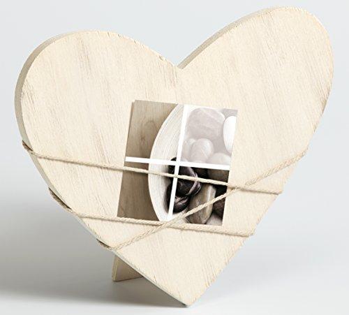 Walther design vv299w bella cornice per ritratto forma di cuore per 1 foto, legno, bianco, 16.5 x 1.2 x 19.5 cm