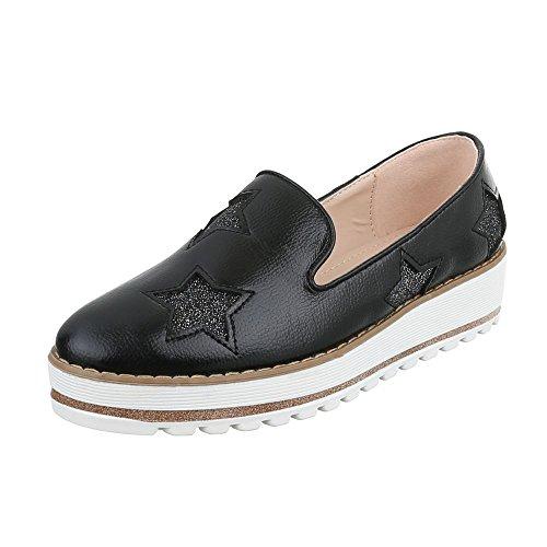 Ital-Design Schnürstiefeletten Damen-Schuhe Klassischer Stiefel Schnürer Reißverschluss Stiefeletten Hellgrau, Gr 38, H908-