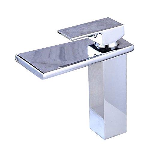 YLOVEK Grifo de baño Completo Cascada de latón frío y Ventilador en...