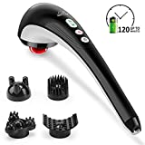 SNAILAX Cordless Handheld Back Massager - Rechargeable Percussion Massage with Heat, Deep Tissue