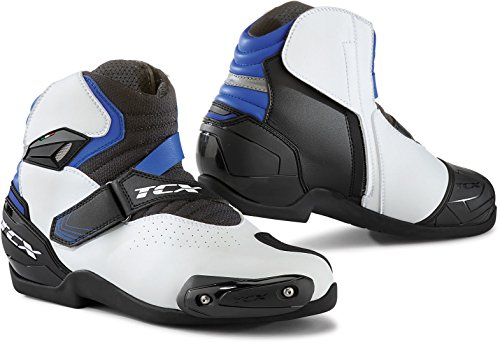 TCX Stivali Moto Roadster 2 Air Bianco/Nero/Blu, Bianco/Nero/Blu, 45