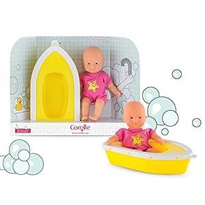 Corolle baño plouf Mini muñeco y Barco, 120090,, 20cm