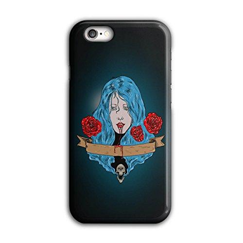Blut Rose schaurig Horror Blut Zähne iPhone 6 / 6S Hülle   Wellcoda (Riesen Zahn Kostüme)