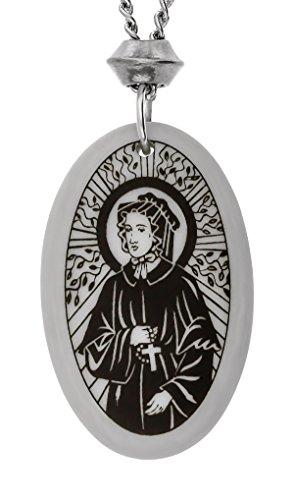 Handgemachte Elizabeth Ann Seton Oval Porzellan Anhänger ~ 18+4 inch Extender Kette (St Elizabeth Symbol)