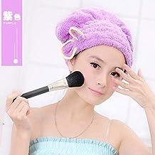 Cappuccio di Asciugatura Super Assorbente Extra Spessa per asciugare i  Capelli Asciugacapelli Asciugamano 5ab50a56cf6c