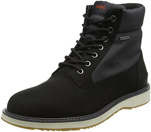 Swims Barry Workboot, Bottines à doublure froide homme Mehrfarbig (Black gray white 409)