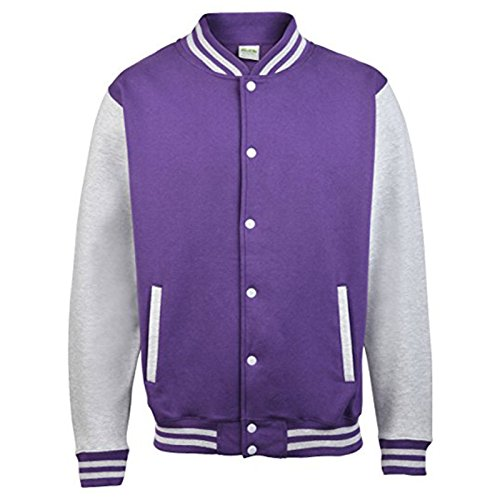 AWDis Herren Modern Jacke Purple/ Heather Grey