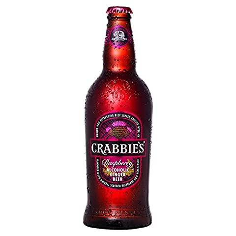 Crabbie's Scottish Raspberry Alcoholic Ginger Beer 500ml (Pack of 8 x 500ml)