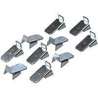 20 Stück - Tablarträger Metall Regal-Bodenträger zum Einhängen in Schiene - Modell VARI 10 | Stahl verzinkt | Möbelbeschläge von GedoTec®