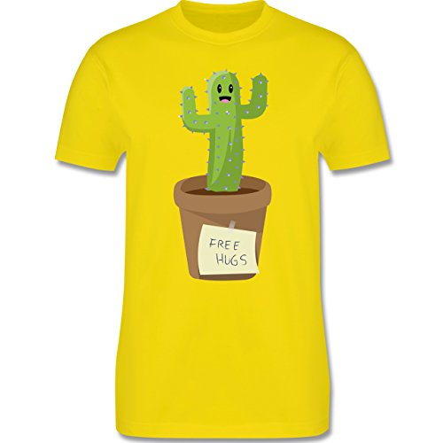 Statement Shirts - Free Hugs - Herren Premium T-Shirt Lemon Gelb