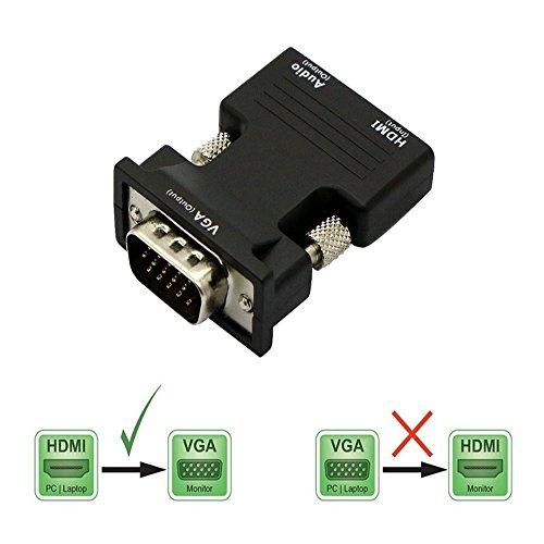 Waylee Adaptador HDMI hembra VGA macho alta definición