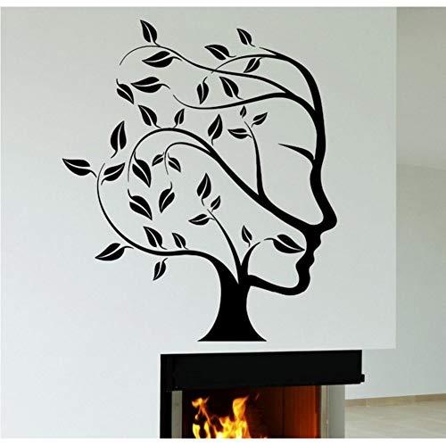 Syssyj Abstrakt Natur Baum Frau Gesicht Wandaufkleber Kreative Kunst Design S Home Room Art Dekorative Wandbild 56 * 89 Cm