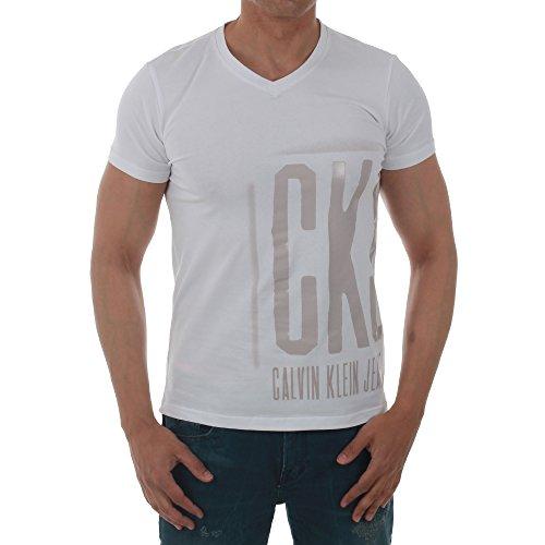 camiseta-de-manga-corta-de-color-blanco-cuello-en-pico-motivo-estampado-en-la-parte-frontal