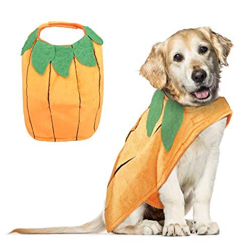 VIKEDI Halloween Kostüm Hund, Halloween Kürbis Kostüme für Hunde, Haustier Hunde Halloween Kostüm,Einstellbare Haustier Hund Kleidung Halloween Party Cosplay Dekoration für mittlere und große Hunde