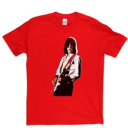 Jeff Beck English Rock Guitarist Colour T-shirt Rot
