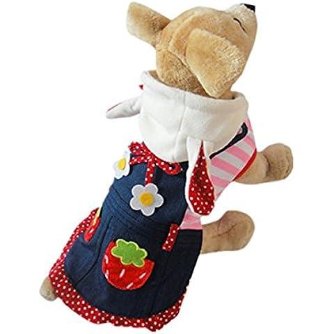 TANG imp Natale Cucciolo Cane Coniglio Cowboy Vestito Hoodies Vestiti Cane Domestico Cappotto XL