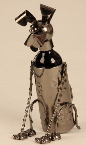 Flaschenhalter Wein Hund Metall Flaschenständer Weinhalter Metallständer