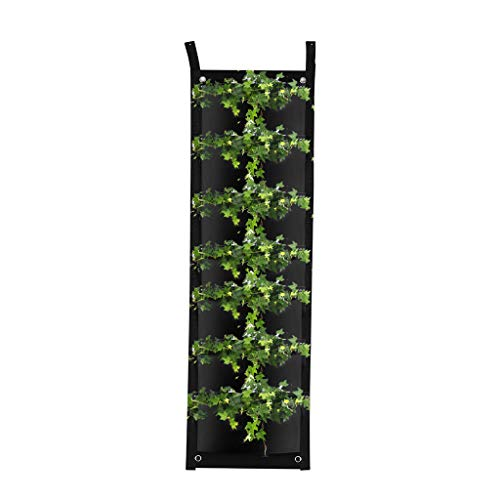 Gaddrt 7 tasche borsa per piantare fioriera da giardino verticale pensile per arredo giardino per piantare fiori, verdure, fragole, piante appese