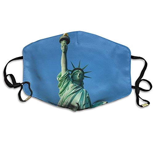Fashion Outdoor Mouth Mask with Design, Reusable Half Face Mask Anti-dust Mask, Statue of Liberty Anti Dust Breathable Face Mouth Mask for Man Woman -