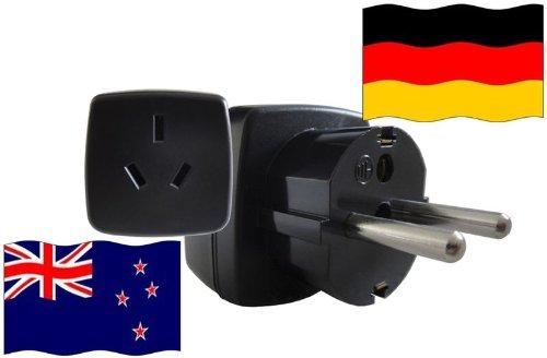 Urlaubs-Reisestecker mit Schutzkontakt für Deutschland 250 Volt Neuseeland Reiseadapter