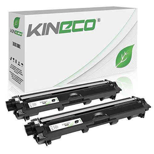 Kineco 2 Toner kompatibel für Brother TN-241 TN241 für Brother MFC-9142CDN, Brother DCP-9022CDW, MFC-9342CDW, MFC-9332CDW, HL-3150CDW, HL-3170CDW - TN-241BK - Schwarz je 2.500 Seiten