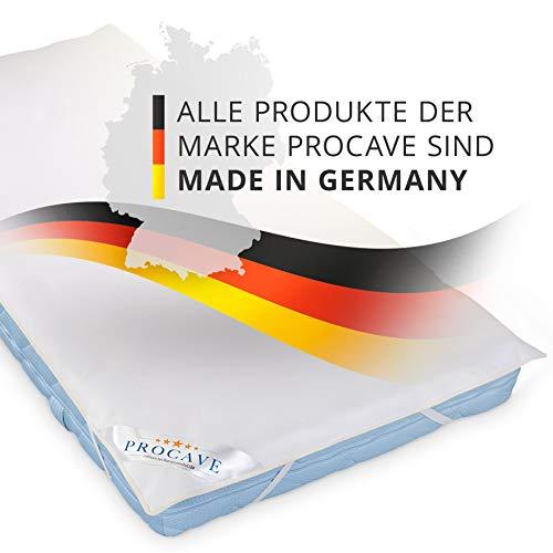 PROCAVE wasserundurchlässige Matratzenauflage in verschiedenen Größen – Made in Germany | Matratzenschoner wasserdicht 60×120 cm | Kopfkissenschoner - 6