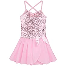 Freebily Maillot Ballet Vestido Danza Tutú Vestido Elegante Brillante de Princesa con Braguita Interior para Niña Chica