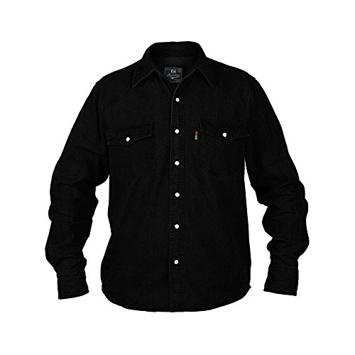 Duke KS1024 Jeans Western-Hemd schwarz in Übergrößen: Farbe: schwarz   Kragenweite: 51/52-4XL (Xxl And Shirt Big Tall)