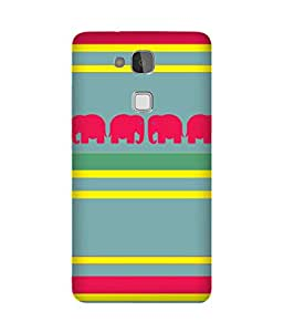 Stripes And Elephant Print (23) Huawei Ascend Mate 7 Case