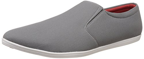 ZAPATOZ Grey Canvas Slip On Loafers-6