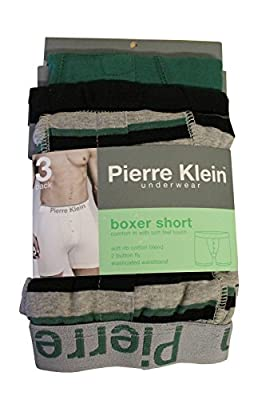 Mens 3 Pack MARCO POLO Underwear Fashion Jersey Button Fly Boxer Shorts